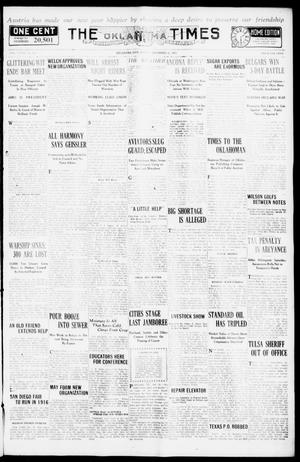 Primary view of object titled 'The Oklahoma Times (Oklahoma City, Okla.), Vol. 27, No. 223, Ed. 1 Friday, December 31, 1915'.