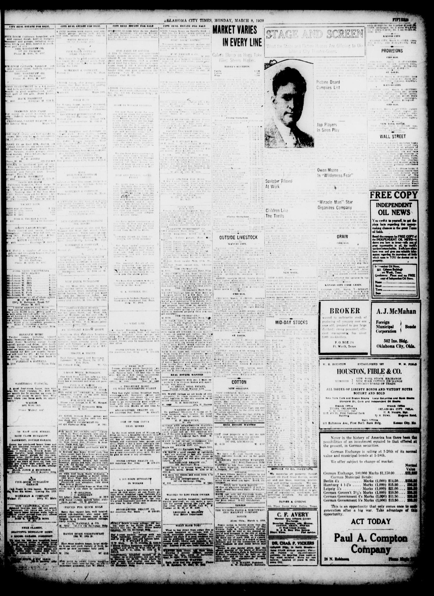 Oklahoma City Times (Oklahoma City, Okla ), Vol  31, No  281