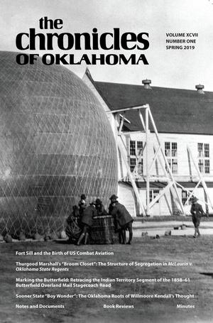 Primary view of Chronicles of Oklahoma, Volume 97, Number 1, Spring 2019