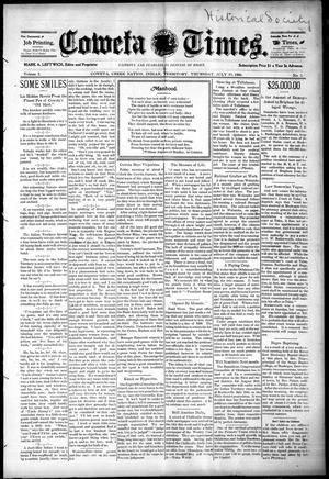 Primary view of object titled 'Coweta Times. (Coweta, Indian Terr.), Vol. 2, No. 2, Ed. 1 Thursday, July 19, 1906'.