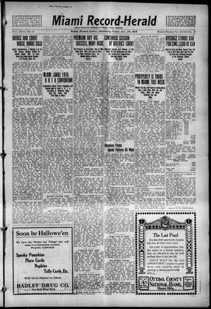 Primary view of object titled 'Miami Record-Herald (Miami, Okla.), Vol. 23, No. 50, Ed. 1 Friday, October 29, 1915'.