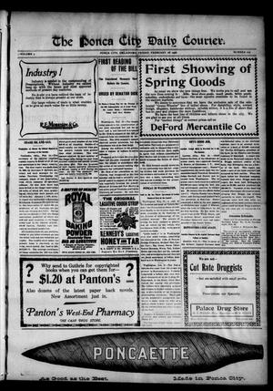 Primary view of object titled 'The Ponca City Daily Courier. (Ponca City, Okla.), Vol. 9, No. 107, Ed. 1 Thursday, February 16, 1905'.
