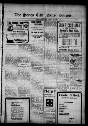 Primary view of object titled 'The Ponca City Daily Courier. (Ponca City, Okla.), Vol. 8, No. 280, Ed. 1 Tuesday, September 5, 1905'.