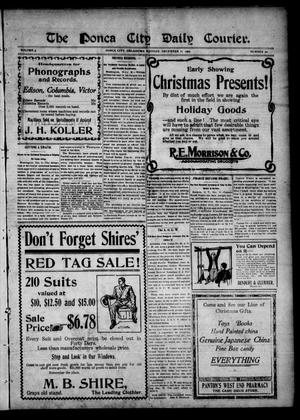 Primary view of object titled 'The Ponca City Daily Courier. (Ponca City, Okla.), Vol. 9, No. 50, Ed. 1 Monday, December 11, 1905'.