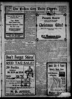 Primary view of object titled 'The Ponca City Daily Courier. (Ponca City, Okla.), Vol. 9, No. 59, Ed. 1 Thursday, December 21, 1905'.