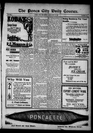 Primary view of object titled 'The Ponca City Daily Courier. (Ponca City, Okla.), Vol. 9, No. 184, Ed. 1 Friday, May 18, 1906'.