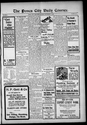 Primary view of The Ponca City Daily Courier. (Ponca City, Okla.), Vol. 9, No. 280, Ed. 1 Monday, September 10, 1906
