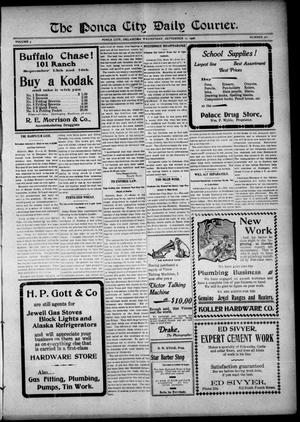 Primary view of object titled 'The Ponca City Daily Courier. (Ponca City, Okla.), Vol. 9, No. 282, Ed. 1 Wednesday, September 12, 1906'.