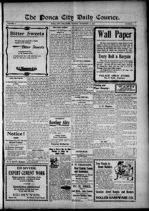 Primary view of object titled 'The Ponca City Daily Courier. (Ponca City, Okla.), Vol. 10, No. 21, Ed. 1 Tuesday, November 13, 1906'.