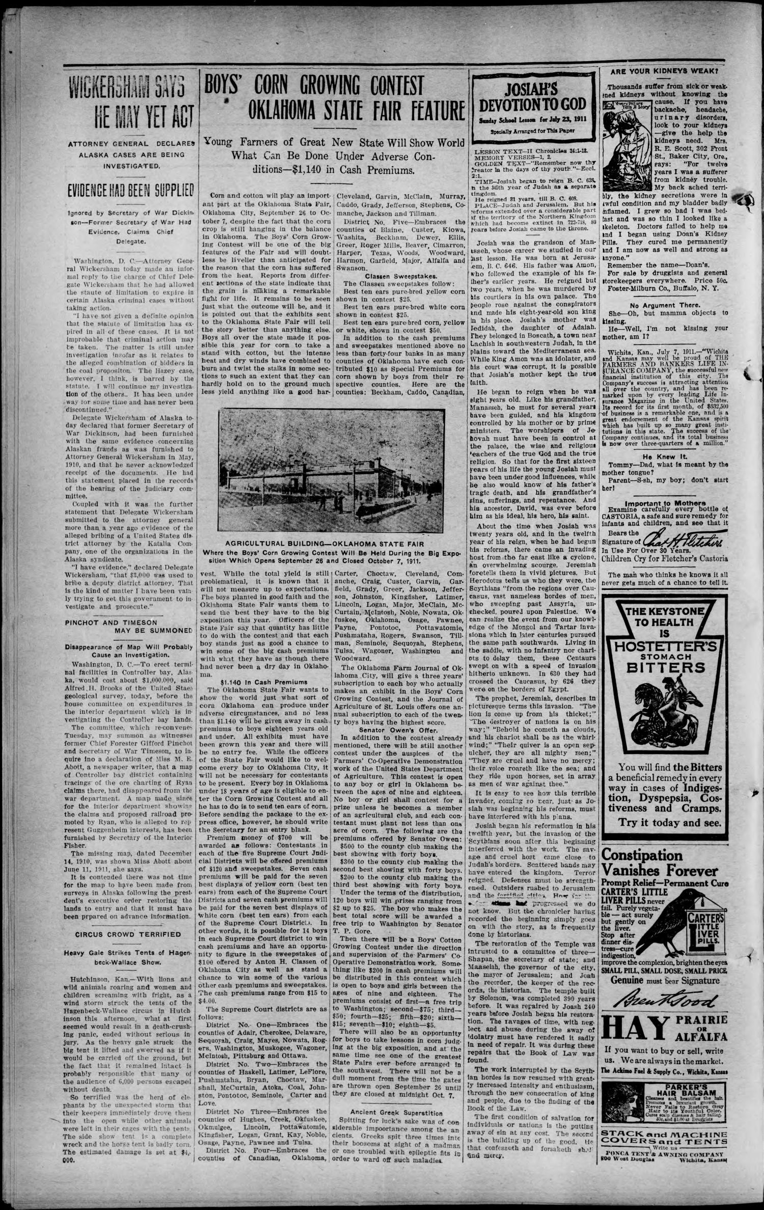 Canadian Valley Record (Canton, Okla.), Vol. 7, No. 8, Ed. 1 Thursday, July 20, 1911                                                                                                      [Sequence #]: 2 of 8