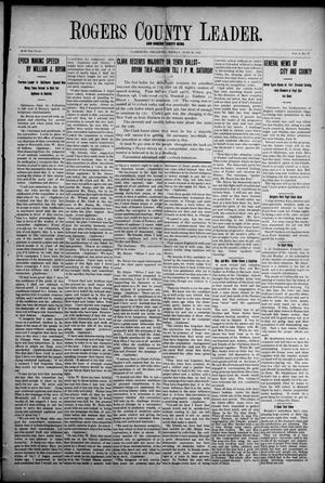Primary view of object titled 'Rogers County Leader. And Rogers County News (Claremore, Okla.), Vol. 4, No. 17, Ed. 1 Friday, June 28, 1912'.