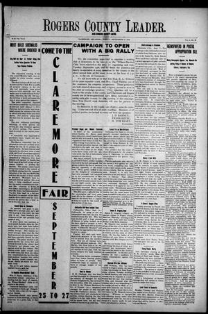 Primary view of object titled 'Rogers County Leader. And Rogers County News (Claremore, Okla.), Vol. 4, No. 28, Ed. 1 Friday, September 13, 1912'.