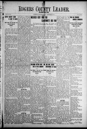 Primary view of object titled 'Rogers County Leader. And Rogers County News (Claremore, Okla.), Vol. 4, No. 30, Ed. 1 Friday, September 27, 1912'.