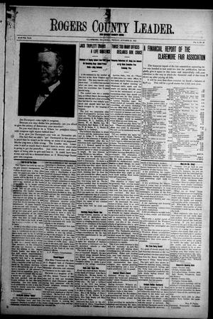 Primary view of object titled 'Rogers County Leader. And Rogers County News (Claremore, Okla.), Vol. 4, No. 34, Ed. 1 Friday, October 25, 1912'.