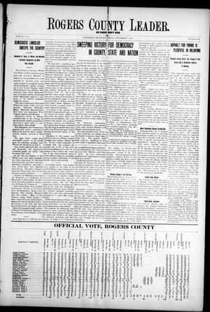 Primary view of object titled 'Rogers County Leader. And Rogers County News (Claremore, Okla.), Vol. 4, No. 36, Ed. 1 Friday, November 8, 1912'.