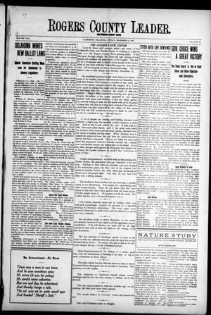 Primary view of object titled 'Rogers County Leader. And Rogers County News (Claremore, Okla.), Vol. 4, No. 41, Ed. 1 Friday, December 13, 1912'.