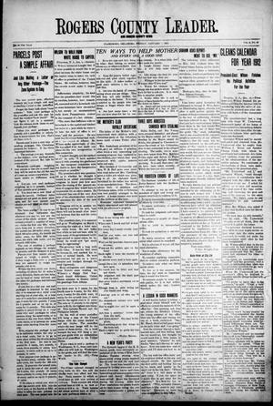 Primary view of object titled 'Rogers County Leader. And Rogers County News (Claremore, Okla.), Vol. 4, No. 44, Ed. 1 Friday, January 3, 1913'.