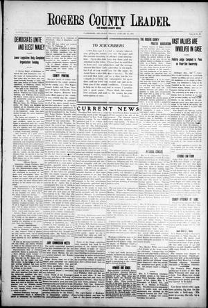 Primary view of object titled 'Rogers County Leader. And Rogers County News (Claremore, Okla.), Vol. 4, No. 45, Ed. 1 Friday, January 10, 1913'.
