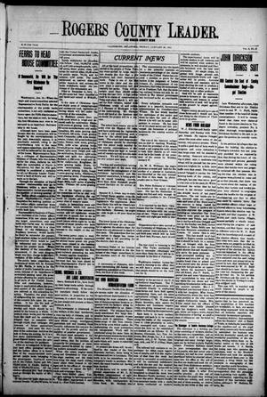 Primary view of object titled 'Rogers County Leader. And Rogers County News (Claremore, Okla.), Vol. 4, No. 47, Ed. 1 Friday, January 24, 1913'.