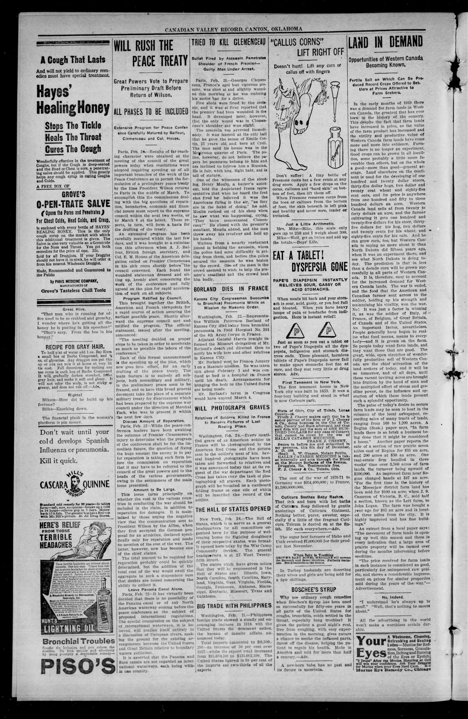 Canadian Valley Record. (Canton, Okla.), Vol. 8, No. 38, Ed. 1 Thursday, February 27, 1919                                                                                                      [Sequence #]: 2 of 12