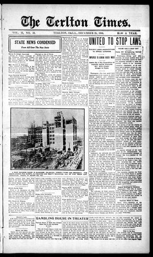 Primary view of The Terlton Times. (Terlton, Okla.), Vol. 2, No. 32, Ed. 1 Friday, December 24, 1909