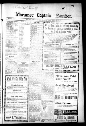 Primary view of Maramec Captain - Monitor. (Maramec, Okla.), Vol. 8, No. 11, Ed. 1 Friday, November 11, 1910