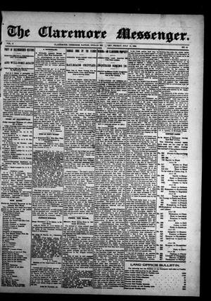 Primary view of object titled 'The Claremore Messenger. (Claremore, Indian Terr.), Vol. 10, No. 19, Ed. 1 Friday, July 15, 1904'.