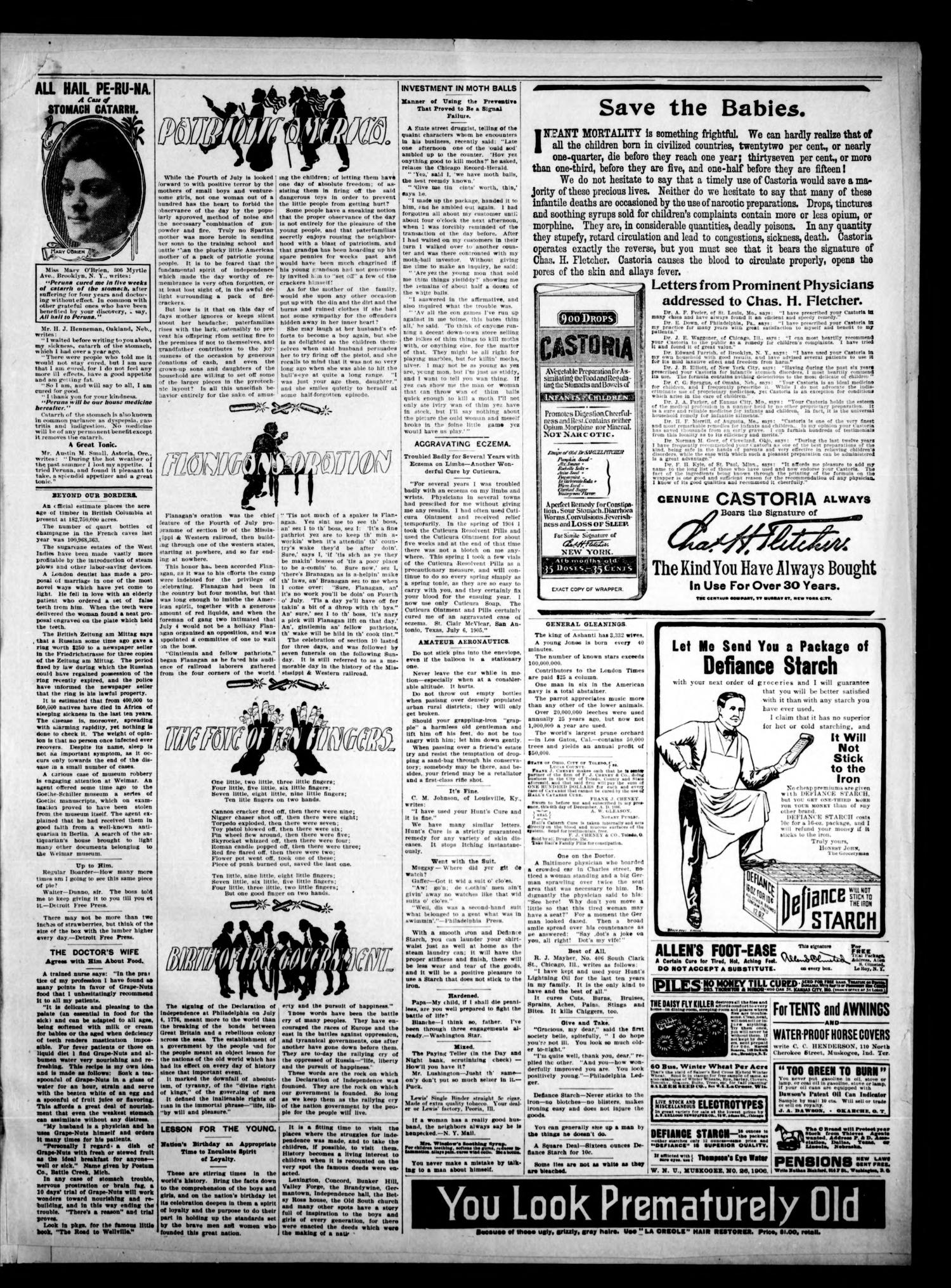 The Claremore Messenger. (Claremore, Indian Terr.), Vol. 12, No. 28, Ed. 1 Friday, July 13, 1906                                                                                                      [Sequence #]: 3 of 8