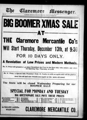 Primary view of object titled 'The Claremore Messenger. (Claremore, Indian Terr.), Vol. 12, No. 50, Ed. 1 Friday, December 7, 1906'.