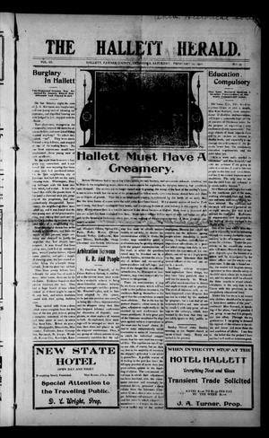 Primary view of object titled 'The Hallett Herald. (Hallett, Okla.), Vol. 3, No. 49, Ed. 1 Saturday, February 11, 1911'.