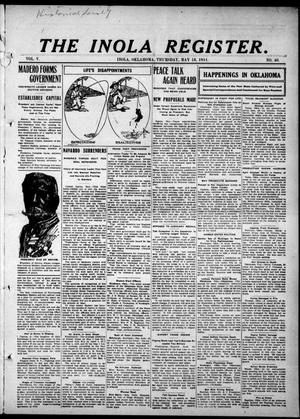 Primary view of object titled 'The Inola Register. (Inola, Okla.), Vol. 5, No. 40, Ed. 1 Thursday, May 18, 1911'.