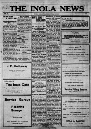 Primary view of object titled 'The Inola News (Inola, Okla.), Vol. 1, No. 6, Ed. 1 Friday, May 27, 1921'.