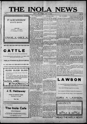 Primary view of object titled 'The Inola News (Inola, Okla.), Vol. 1, No. 10, Ed. 1 Friday, June 24, 1921'.