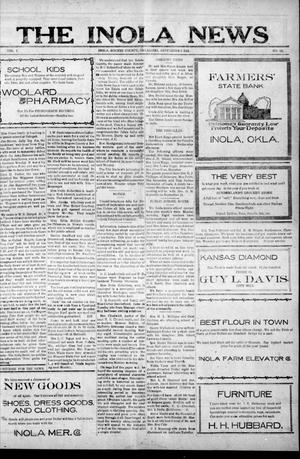 Primary view of object titled 'The Inola News (Inola, Okla.), Vol. 1, No. 22, Ed. 1 Friday, September 9, 1921'.
