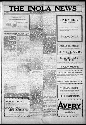 Primary view of object titled 'The Inola News (Inola, Okla.), Vol. 1, No. 24, Ed. 1 Friday, September 23, 1921'.