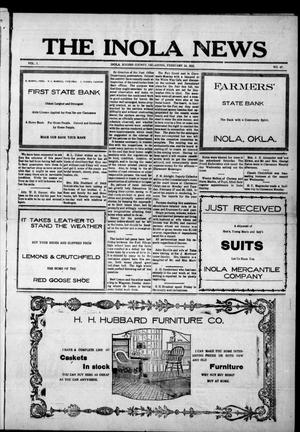 Primary view of object titled 'The Inola News (Inola, Okla.), Vol. 1, No. 47, Ed. 1 Friday, February 24, 1922'.
