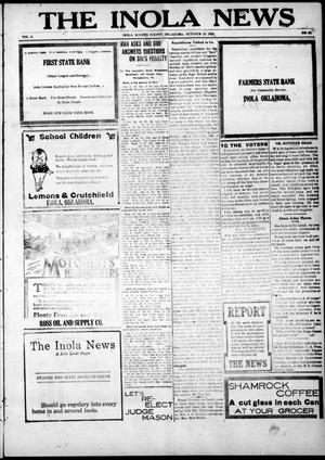 Primary view of object titled 'The Inola News (Inola, Okla.), Vol. 2, No. 29, Ed. 1 Friday, October 20, 1922'.