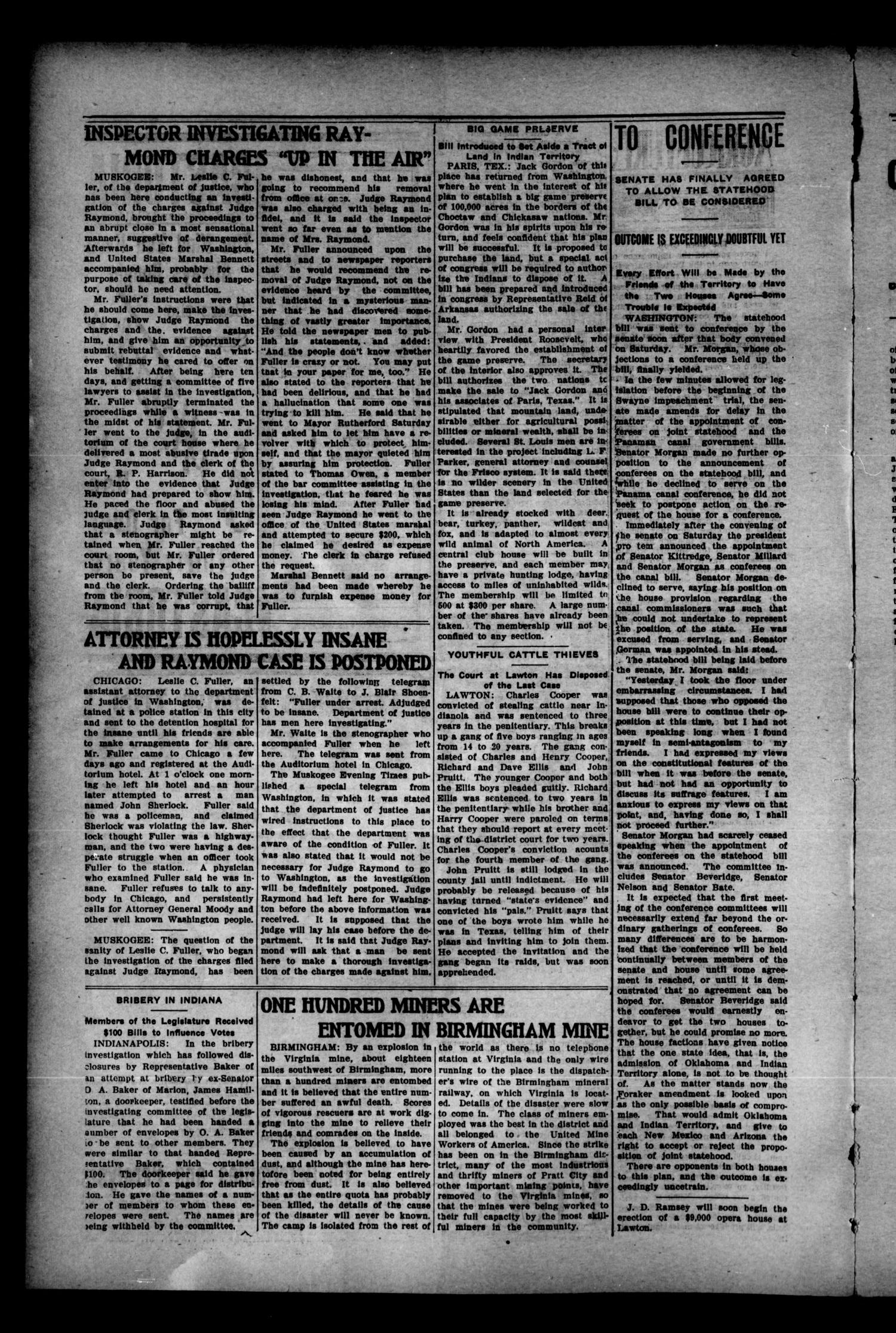 Sentinel News-Boy. (Sentinel, Okla.), Vol. 1, No. 30, Ed. 1 Saturday, March 4, 1905                                                                                                      [Sequence #]: 4 of 8