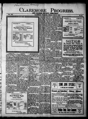 Primary view of object titled 'Claremore Progress. And Rogers County Democrat (Claremore, Okla.), Vol. 21, No. 20, Ed. 1 Friday, June 13, 1913'.