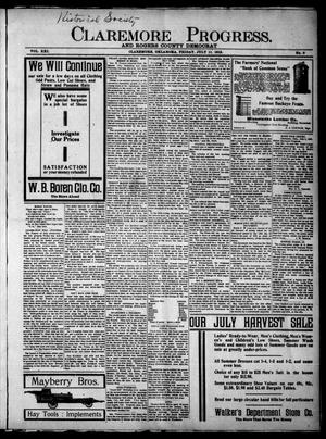 Primary view of Claremore Progress. And Rogers County Democrat (Claremore, Okla.), Vol. 21, No. 24, Ed. 1 Friday, July 11, 1913