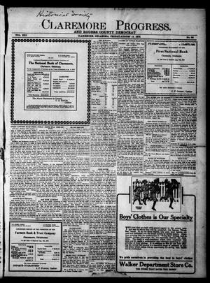 Primary view of object titled 'Claremore Progress. And Rogers County Democrat (Claremore, Okla.), Vol. 21, No. 29, Ed. 1 Friday, August 15, 1913'.