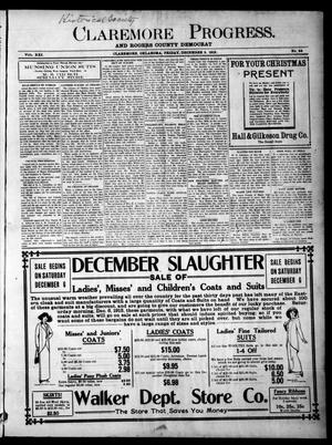 Primary view of object titled 'Claremore Progress. And Rogers County Democrat (Claremore, Okla.), Vol. 21, No. 44, Ed. 1 Friday, December 5, 1913'.