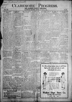 Primary view of object titled 'Claremore Progress. And Rogers County Democrat (Claremore, Okla.), Vol. 21, No. 48, Ed. 1 Friday, January 2, 1914'.