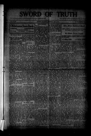 Primary view of object titled 'Sword of Truth (Sentinel, Okla.), Vol. 2, No. 48, Ed. 1 Wednesday, August 5, 1914'.