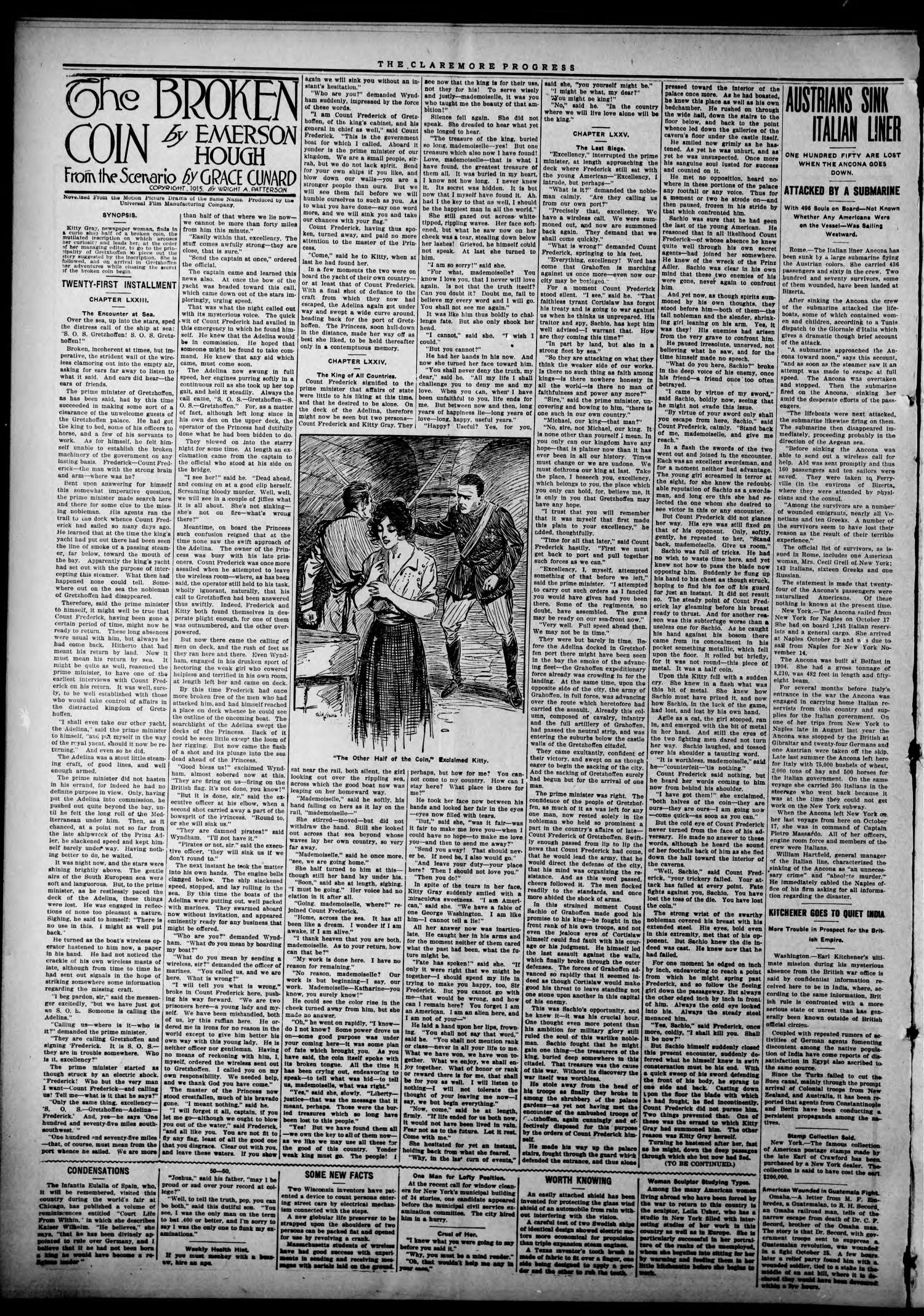 Claremore Progress. And Rogers County Democrat (Claremore, Okla.), Vol. 23, No. 42, Ed. 1 Thursday, November 18, 1915                                                                                                      [Sequence #]: 2 of 8