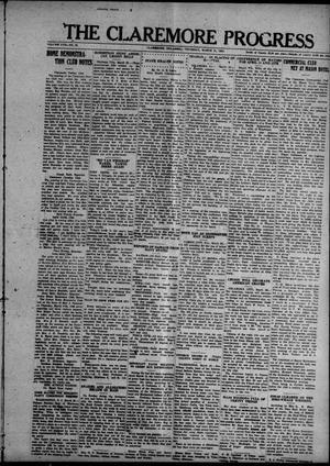Primary view of object titled 'The Claremore Progress (Claremore, Okla.), Vol. 17, No. 20, Ed. 1 Thursday, March 31, 1921'.