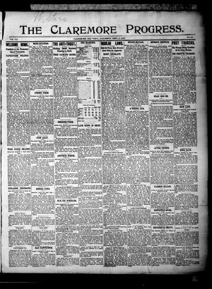 Primary view of The Claremore Progress. (Claremore, Indian Terr.), Vol. 7, No. 30, Ed. 1 Saturday, September 2, 1899