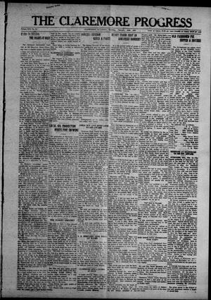 Primary view of object titled 'The Claremore Progress (Claremore, Okla.), Vol. 17, No. 12, Ed. 1 Thursday, February 24, 1921'.