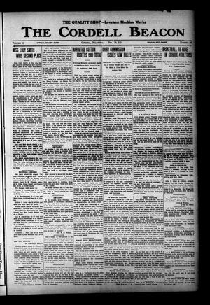 Primary view of The Cordell Beacon (Cordell, Okla.), Vol. 18, No. 19, Ed. 1 Thursday, December 10, 1914