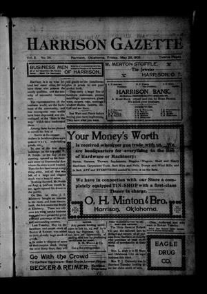 Primary view of object titled 'Harrison Gazette. (Harrison, Okla.), Vol. 2, No. 34, Ed. 1 Friday, May 22, 1903'.